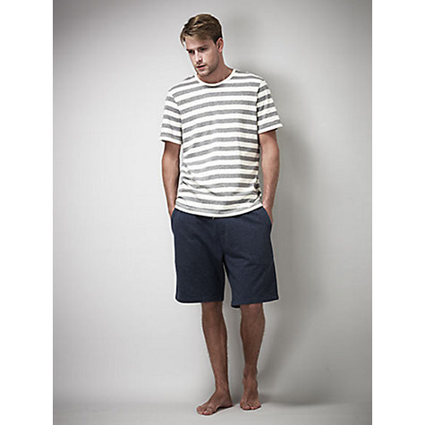 Buy Kin by John Lewis Melange Rib Shorts, Navy Online at johnlewis.com