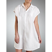 Buy John Lewis Pin Tuck Linen Kaftan, White Online at johnlewis.com