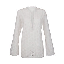 Buy John Lewis Cutwork Kaftan, White Online at johnlewis.com