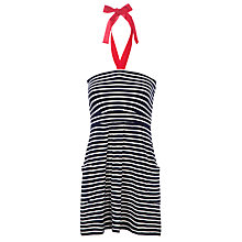 Buy Joules Karina Stripe Halter Beach Dress, Blue/White Online at johnlewis.com