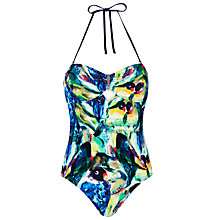 Buy Ted Baker Lailie Parrot Swimsuit, Blue Belle Online at johnlewis.com