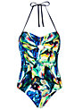 Buy Ted Baker Lailie Parrot Swimsuit, Blue Belle, 10 Online at johnlewis.com