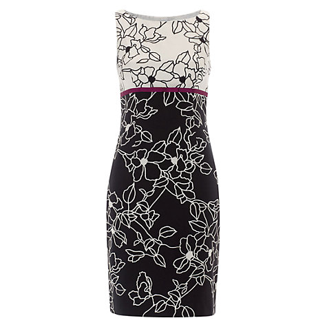 Buy Hobbs Invitation Florrie Dress, Black Online at johnlewis.com