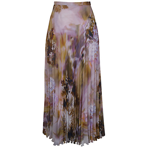 Buy Kaliko Clemetis Printed Maxi Skirt, Multi Online at johnlewis.com