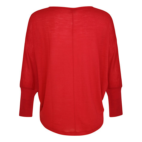 Buy Kaliko Batwing Top, Bright Red Online at johnlewis.com
