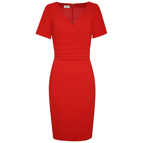 Buy Kaliko Tuck Waist Shift Dress, Red Online at johnlewis.com