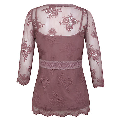Buy Kaliko Lingerie Lace Top, Mid Purple Online at johnlewis.com