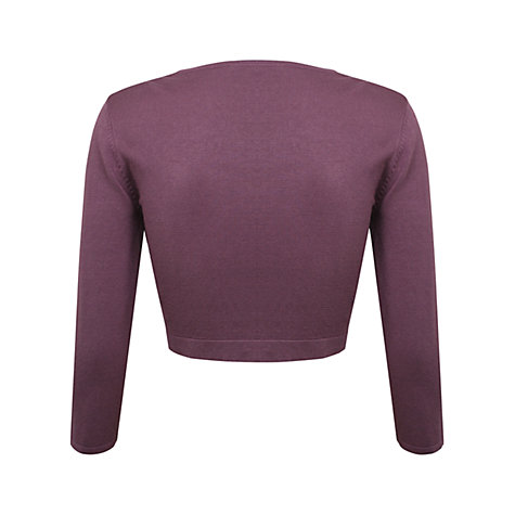 Buy Kaliko Edge to Edge Bolero, Mid Purple Online at johnlewis.com