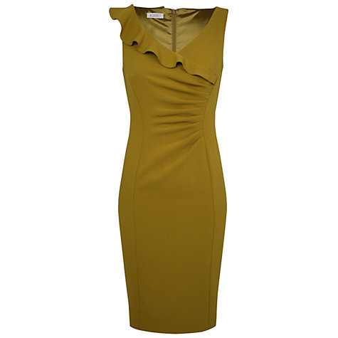 Buy Kaliko Frill Crepe Dress, Light Green Online at johnlewis.com