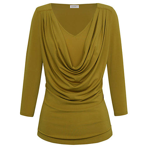 Buy Kaliko Cowl Front Top, Olive Online at johnlewis.com