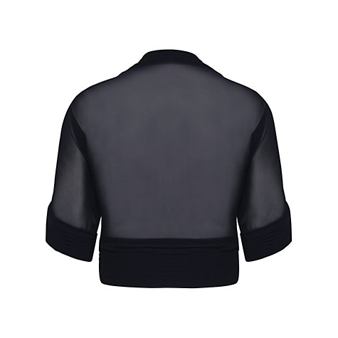 Buy Alexon Chiffon Bolero, Black Online at johnlewis.com