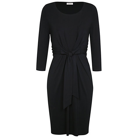 Buy Kaliko Jersey Tie Front Dress, Black Online at johnlewis.com