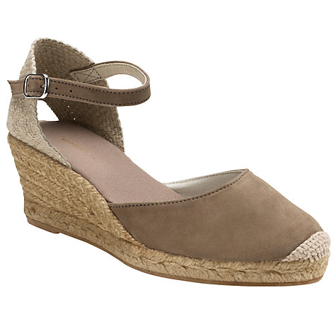 Buy John Lewis Llorret Suede Espadrille Wedges Online at johnlewis.com