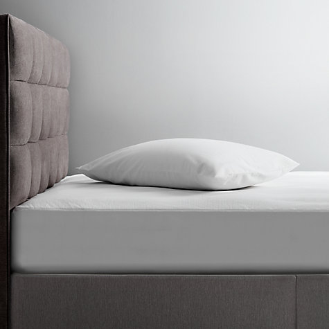 Buy Tempur Waterproof Mattress Protector, White, Depth 21-27 cm Online at johnlewis.com