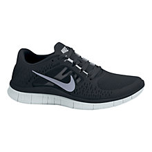 Buy Nike Men's Free Run+ 3 Running Shoes , Black/Silver Online at johnlewis.com