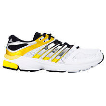 Buy Adidas Men's Questar Stability Running Shoes, White/Grey/Yellow Online at johnlewis.com