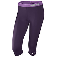 Buy Nike Pro Capri Pants, Purple Online at johnlewis.com