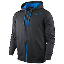 Buy Nike KO Long Sleeve Hoodie, Grey/Blue Online at johnlewis.com
