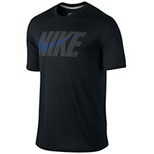 Buy Nike Legend Short Sleeve T-Shirt, Grey/Purple Online at johnlewis.com