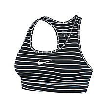 Buy Nike Printed Pro Bra, White/Black Online at johnlewis.com