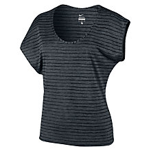 Buy Nike Sweet Burnout T-Shirt, Black/White Online at johnlewis.com