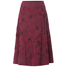 Buy White Stuff Blossom Skirt, Dark Bordeaux Online at johnlewis.com