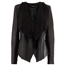 Buy Oasis Waterfall Leather Jacket Online at johnlewis.com