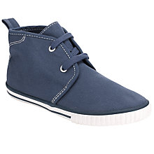 Buy John Lewis Boy Laced Mid Canvas Shoes Online at johnlewis.com