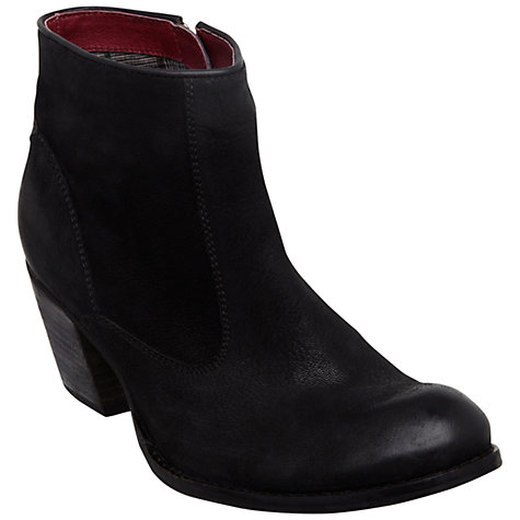 Buy Bertie Pax Nubuck Block Heel Ankle Boots Online at johnlewis.com