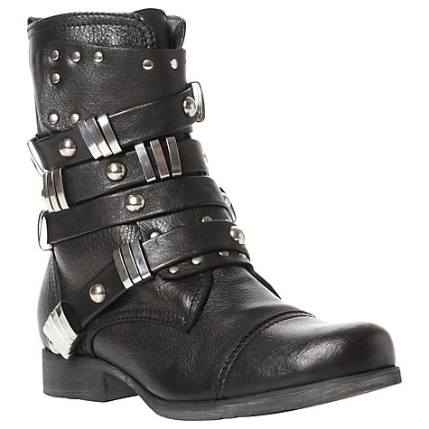 Buy Bertie Prang Stud and Buckle Detail Leather Biker Boots Online at johnlewis.com