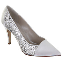 Buy Rainbow Club Claudia Satin and Glitter Point Toe Court Shoes, Ivory Online at johnlewis.com