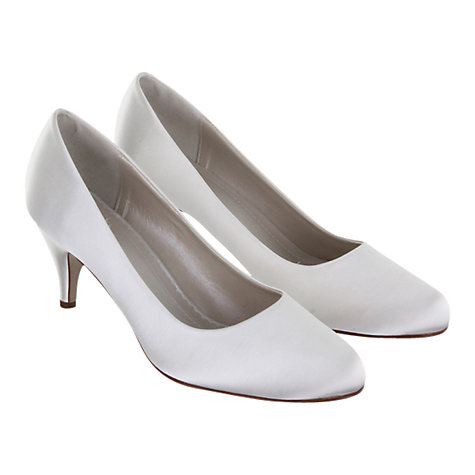 Buy Rainbow Club Jackie Satin Round Toe Court Shoes, Ivory Online at johnlewis.com