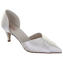 Buy Rainbow Club Karina Pleat Front Satin Point Toe D'Orsay Shoes Online at johnlewis.com