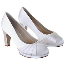 Buy Rainbow Club Kimberly Wide Fit Satin Round Toe Platform Court Shoes, Ivory Online at johnlewis.com
