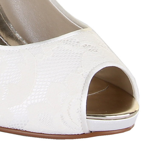 Buy Rainbow Club Nina Lace Platform Peep-Toe Shoes, Ivory Online at johnlewis.com