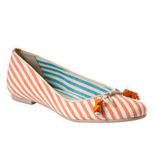 Buy J Shoes Amarante Canvas Striped Ballerina Pumps Online at johnlewis.com