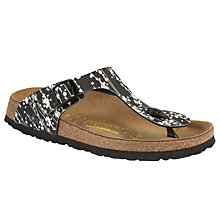 Buy Birkenstock Gizeh Patent Leather Sandals Online at johnlewis.com