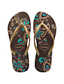 Havaianas Slim Season Sandals, Brown/Gold