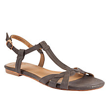 Buy J Shoes Arwen Leather Flat Open Toe Sandals Online at johnlewis.com
