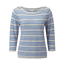 Buy CC Petite Textured Stripe Cardigan, Ultra Marine Online at johnlewis.com