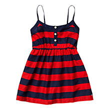 Buy Tommy Hilfiger Girls' Parade Striped Top, Red/Navy Online at johnlewis.com