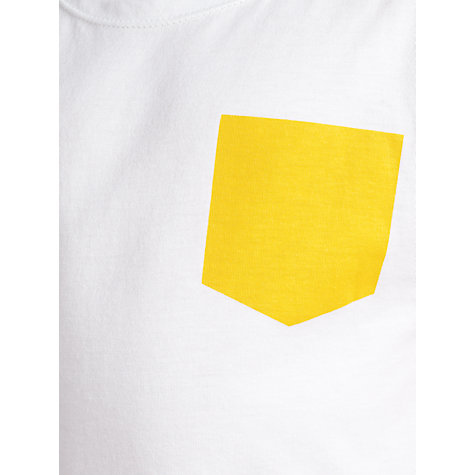 Buy Kin by John Lewis Contrast Trim Top, White/Yellow Online at johnlewis.com