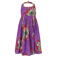 Buy John Lewis Girl Halterneck Dress, Purple Online at johnlewis.com