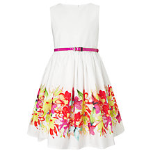 Buy John Lewis Girl Belted Floral Border Dress, Multi Online at johnlewis.com