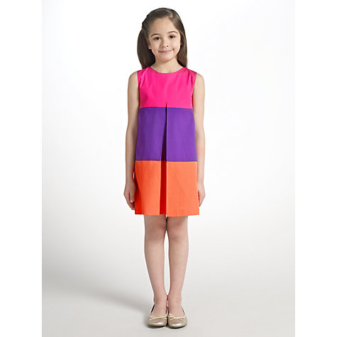 Buy John Lewis Girl A-Line Block Stripe Dress, Multi Online at johnlewis.com
