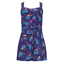 Buy John Lewis Girl Parrot Playsuit, Purple Online at johnlewis.com