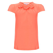 Buy John Lewis Girl Corsage Top, Coral Online at johnlewis.com