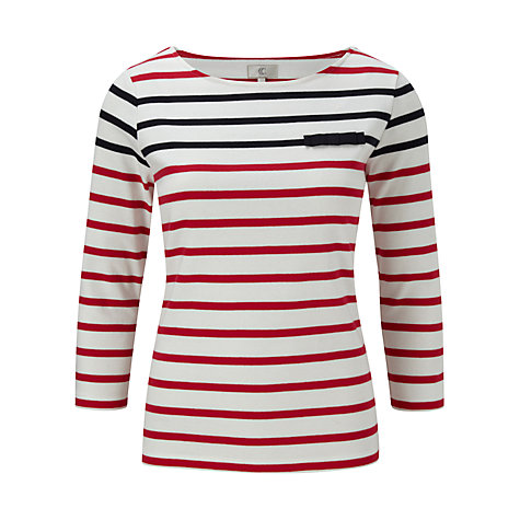 Buy CC Nautical Striped Top, Strawberry/Navy Online at johnlewis.com