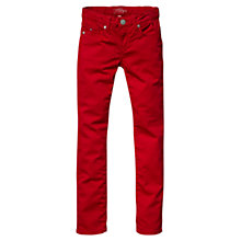 Buy Tommy Hilfiger Girls' Naomi Skinny Jeans, Red Online at johnlewis.com