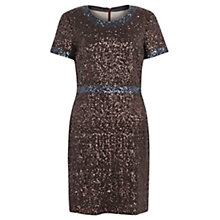 Buy Jigsaw Sequins Shift Dress, Bronze Online at johnlewis.com